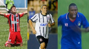 2015 - Isaac (Botafogo), Gabriel Vasconcelos (Corinthians) e Victor Santiago (São Caetano) - 8 gols